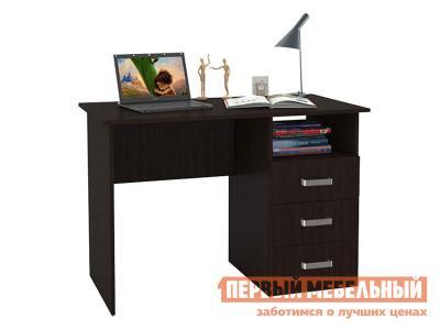 Компьютерный стол  письменный с ящиками 1100 Венге БОНмебель. Цвет: венге