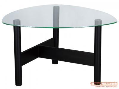 Журнальный столик  Стол Саут 3С Стекло прозрачное / Черный Мебелик. Цвет: черный