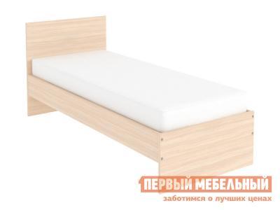 Односпальная кровать  Мерлен Молочный дуб, 900 Х 2000 мм Уют сервис. Цвет: светлое дерево
