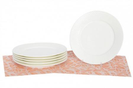Набор тарелок 25,5 см JV WILMAX. Цвет: белый