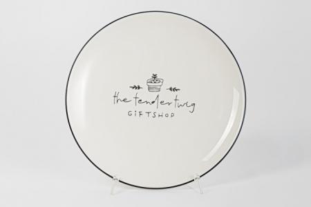 Тарелка десертная 20 см 359-519 Lefard. Цвет: белый, чёрный