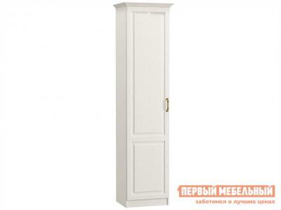 Распашной шкаф  1 дв Ливерпуль Ясень Ваниль / Белый, С карнизом Моби. Цвет: белый