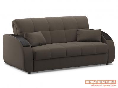 Прямой диван  Уильям / Люкс Коричневый, велюр, 160х200 см, Независимый пружинный блок Живые диваны. Цвет: коричневый