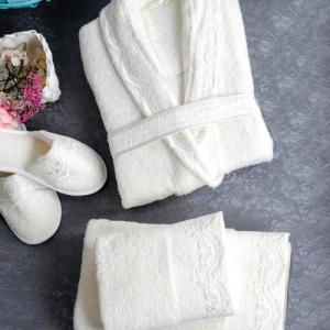 Банный халат Linda цвет: кремовый (L-xL) Sofi De MarkO