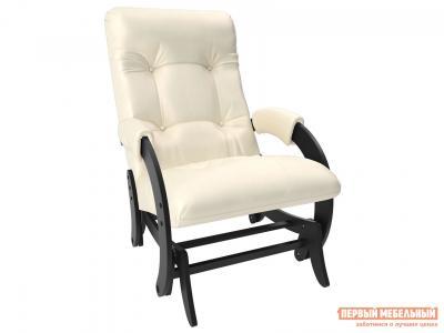 Кресло-качалка  глайдер Комфорт Модель 68 Венге, Dundi 112, иск. кожа Мебель Импэкс. Цвет: венге