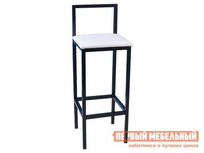 Барный стул  Лофт К Черный / Белый кожзам Амис. Цвет: белый