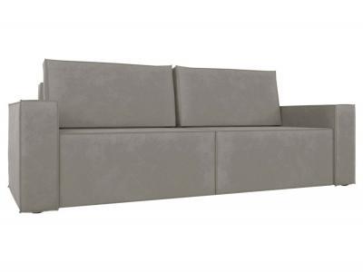 Прямой диван  Лофт Светло-серый, велюр Столлайн. Цвет: серый