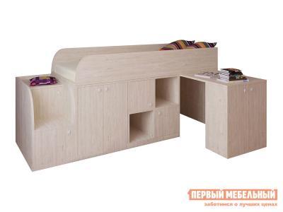 Кровать-чердак  Астра мини Дуб Молочный РВ Мебель. Цвет: светлое дерево