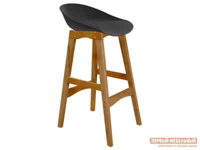 Барный стул  SHT-ST19/S65 Черный, пластик / Светлый орех, массив бука Sheffilton. Цвет: черный
