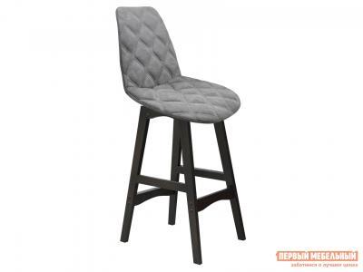 Барный стул  SHT-ST29-С20/S65-1 Серый туман, микровелюр / Венгe, массив бука Sheffilton. Цвет: серый