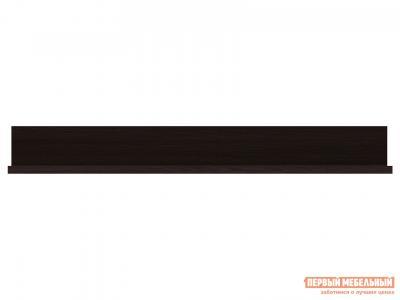 Настенная полка  навесная 1050/1200/1500 Парма Люкс Венге, 1500 мм КУРАЖ. Цвет: венге