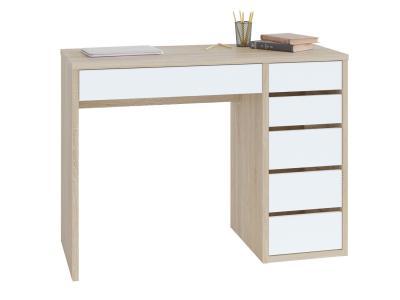 Письменный стол  СПм-10 Столешница Дуб Сонома / Корпус Белый, Правый Тайга. Цвет: белый