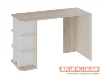 Письменный стол  тип 3 Дуб сонома / Белый ясень ТриЯ. Цвет: светлое дерево