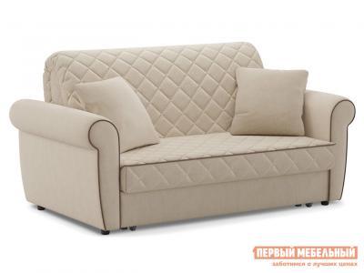 Прямой диван  Денвиль / Люкс Бежевый, велюр, 140х200 см, Пенополиуретан, новый Живые диваны. Цвет: бежевый