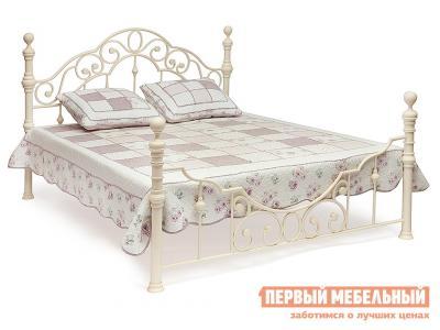 Двуспальная кровать  Victoria + основание Antique White, Спальное место 1600 X 2000 мм Tetchair. Цвет: белый