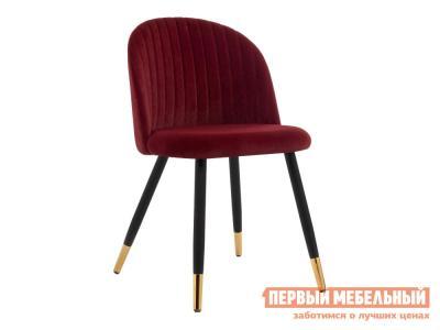 Стул  Gabi Бордовый, велюр / Черный, металл Лайфмебель. Цвет: красный