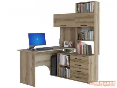 Компьютерный стол  КСТ-14 Дуб Делано, Правый Сокол. Цвет: светлое дерево