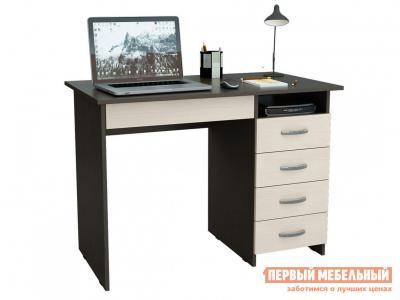 Компьютерный стол  письменный Милан-1 (0120) Венге / Дуб Молочный МФ Мастер. Цвет: темное-cветлое дерево