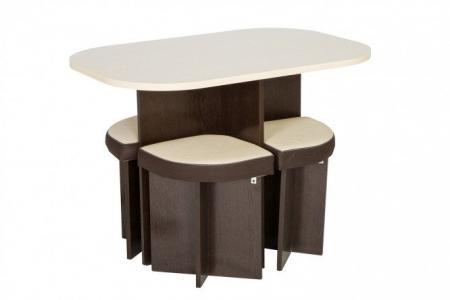 Комплект стол + 4 табурета Олимп Hoff