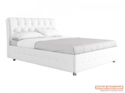 Двуспальная кровать  с подъемным механизмом Монреаль Белый, экокожа , 1800 Х 2000 мм Первый Мебельный. Цвет: белый