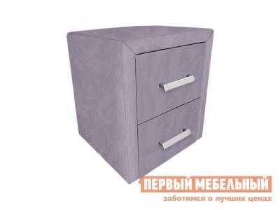 Прикроватная тумбочка  Тумба Женева Лаванда, велюр Первый Мебельный. Цвет: фиолетовый