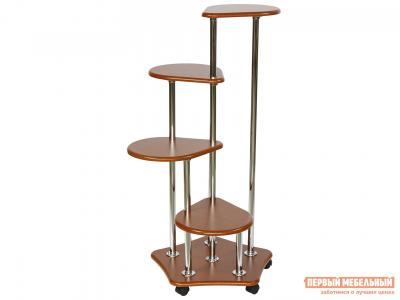 Цветочница  Четверочка Вишня Калифорния мебель. Цвет: коричневое дерево