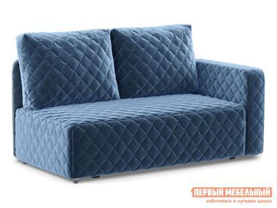 Прямой диван  Мортон Люкс 1 Синий, велюр, Правый Живые диваны. Цвет: синий