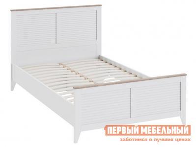 Детская кровать  Ривьера СМ 241.13.21 с изножьем Дуб Бонифацио / Белый ТриЯ. Цвет: белый