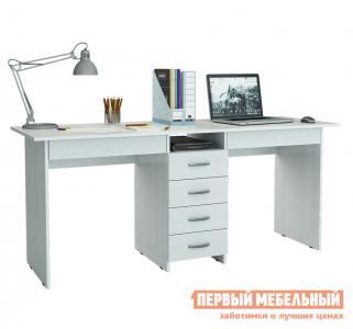 Компьютерный стол  для двоих Тандем-2Я (0120) Белый МФ Мастер. Цвет: белый