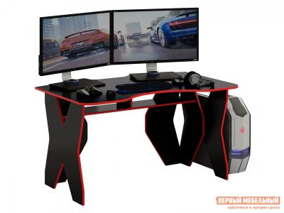 Компьютерный стол  МСТ-СИТ-01 Таунт-1 Черный с красной кромкой МФ Мастер. Цвет: черный