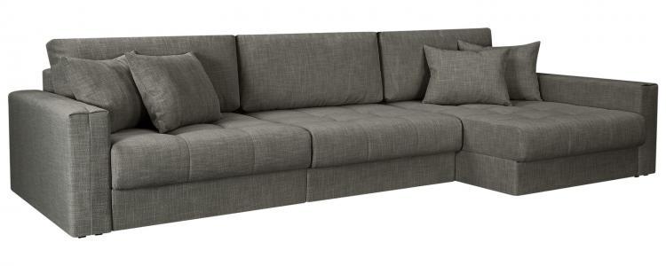 Модульный диван Брайтон вариант №3 Nobilia серый (Рогожка) HomeMe. Цвет: серый