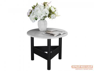 Журнальный столик  Стол Саут 9Д Дуб дымчатый / Черный Мебелик. Цвет: черный