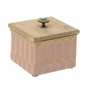 Банка с крышкой laree (to4rooms) розовый 12x11x12 см. To4rooms. Цвет: розовый