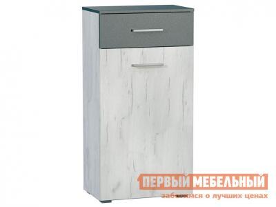 Комод  Юнона К Дуб Белый CRAFT / Серый шифер Моби. Цвет: серый