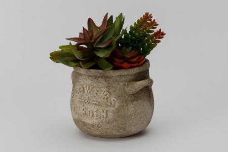 Искусственное растение в цементном горшке Суккулент Hoff