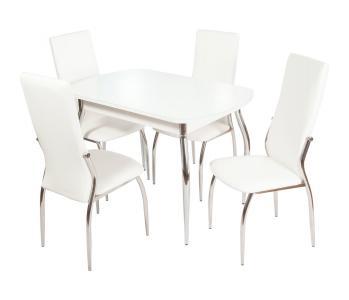 Обеденная группа Ривьера вариант №1 (белый) HomeMe