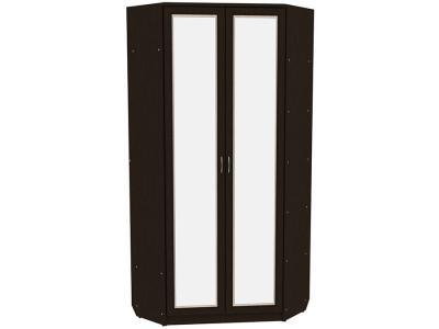 Распашной шкаф  угловой Мерлен 401 Венге / Дуб Атланта, С зеркалом Уют сервис. Цвет: светлое дерево