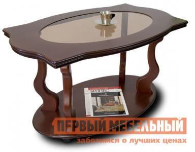 Журнальный столик  Берже-3С Темно-коричневый Мебелик. Цвет: коричневое дерево