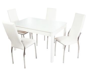 Обеденная группа Гамбург вариант №2 (белый) HomeMe