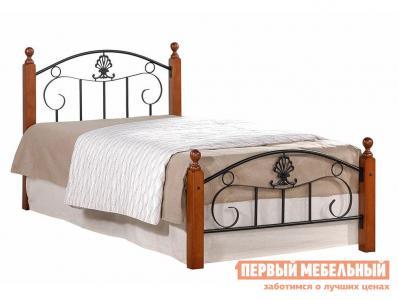 Односпальная кровать  Румба Красный дуб / Чёрный, 900 Х 2000 мм Tetchair. Цвет: красное дерево