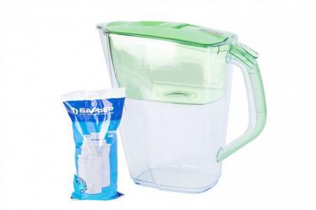 Фильтр-кувшин для очистки воды 4,2 л Прайм Опти-Лайт Hoff. Цвет: зелёное яблоко