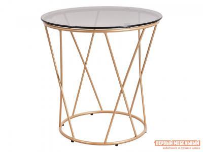 Журнальный столик  Стол ALLURE Тонированное стекло / Золото, 500 х мм Базистрейд. Цвет: бежевый