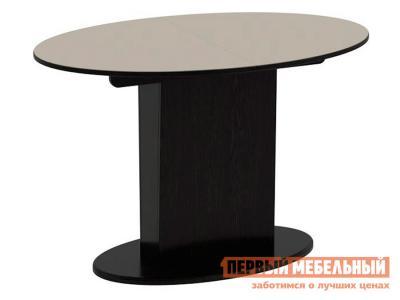 Кухонный стол  Обеденный Марсель Венге / Бежевое стекло глянец, Большой ТриЯ. Цвет: бежевый