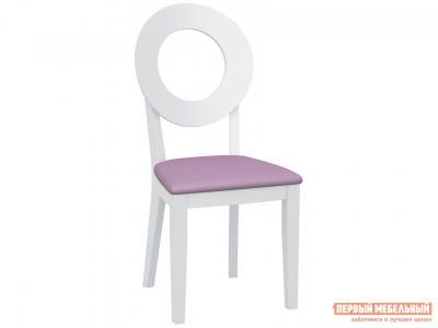 Стул  Коломбо 2 с жесткой спинкой Каркас эмаль белая / Сиденье Nitro Purple, кожзам АВРОРА. Цвет: белый