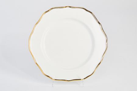 Тарелка десертная 21,6 см Клевер Hoff. Цвет: белый, золотой