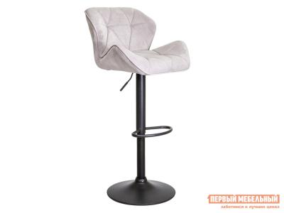 Барный стул  BERLIN Серый, велюр / Черный, металл Sedia. Цвет: серый