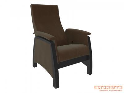 Кресло-качалка  Кресло-глайдер Комо Венге, Verona Brown, велюр Мебель Импэкс. Цвет: венге