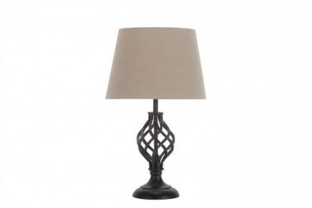 Лампа настольная Ковка черная Лючия. Цвет: чёрный, бежевый
