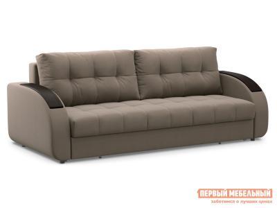 Прямой диван  Долар / Люкс Латте, велюр , Независимый пружинный блок Живые диваны. Цвет: бежевый