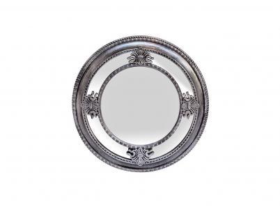 Зеркало круглое в серебристой раме (garda decor) серебристый 5 см. Garda Decor. Цвет: серебристый
